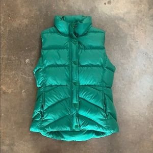 Green puffy jacket